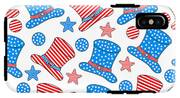 Seamless Pattern For 4th Of July IPhone X Tough Case