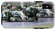 2014 F1 Mercedes Amg Petronas  Lewis Hamilton Vs Nico Rosberg IPhone X Tough Case