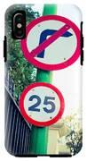 25 Mph Road Sign IPhone X Tough Case