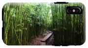 Boardwalk Passing Through Bamboo Trees IPhone X Tough Case