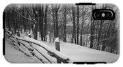 Rural Winter Scene With Fence IPhone X Tough Case