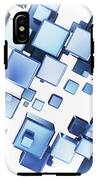 Blue Cubes IPhone X Tough Case