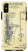 Saxophone Patent Drawing From 1928 IPhone X Tough Case