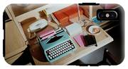 A Cupboard With A Blue Typewriter IPhone X Tough Case