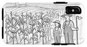 A Farmer And His Daughter Look At Cornstalks Who IPhone X Tough Case