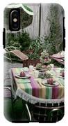 A Garden Set Up For Lunch IPhone X Tough Case