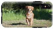 A Golden Retriever Running IPhone X Tough Case