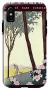 A House And Garden Cover Of A Rural Scene IPhone X Tough Case