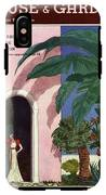 A House And Garden Cover Of A Woman In A Doorway IPhone X Tough Case