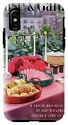 A House And Garden Cover Of Al Fresco Dining IPhone X Tough Case