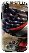 A House And Garden Cover Of An American Flag IPhone X Tough Case