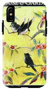 A House And Garden Cover Of Chickadees IPhone X Tough Case