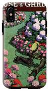 A House And Garden Cover Of Dachshunds With A Hat IPhone X Tough Case