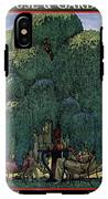 A House And Garden Cover Of People Dining IPhone X Tough Case