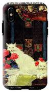 A House And Garden Cover Of White Cats IPhone X Tough Case