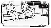 A Husband And Wife Sit On The Sofa IPhone X Tough Case