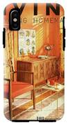A Living Room With Furniture By Mt Airy Chair IPhone X Tough Case