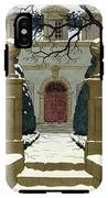 A Snow Covered Pathway Leading To A Mansion IPhone X Tough Case