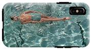 A Woman Swimming In A Pool IPhone X Tough Case