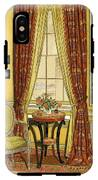 A Yellow Library With A Vase Of Flowers IPhone X Tough Case