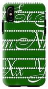 Abc 123 Green IPhone X Tough Case