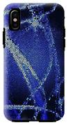 Abstract Blue IPhone X Tough Case