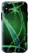 Abstract Green IPhone X Tough Case