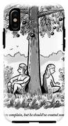 Adam And Eve Sit Back To Back Against A Tree IPhone X Tough Case