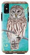 Aqua Barred Owl IPhone X Tough Case
