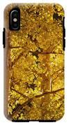 Aspen Leaves Textured IPhone X Tough Case
