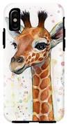 Baby Giraffe Watercolor  IPhone X Tough Case