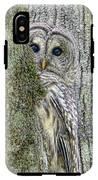 Barred Owl Peek A Boo IPhone X Tough Case