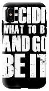 Be It Poster Black IPhone X Tough Case