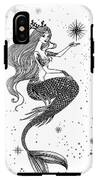 Beautiful Mermaid With Star In Her IPhone X Tough Case