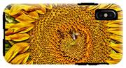 Bees On Sunflower Hdr IPhone X Tough Case