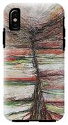 Belsay Hall Quarry Gardens Red And Green IPhone X Tough Case