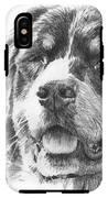 Bernese Mountain Dog Pencil Portrait IPhone X Tough Case