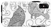 Birds Coloring Page. Animals. Hand IPhone X Tough Case