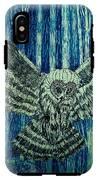 Black Owl On Blue Night IPhone X Tough Case