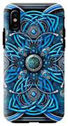 Blue And Silver Celtic Cross IPhone X Tough Case