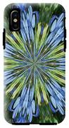 Blue Flower Star IPhone X Tough Case