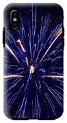 Blue Orange Fireworks Galveston IPhone X Tough Case