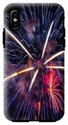 Blue Orange Red Fireworks Galveston IPhone X Tough Case