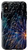 Blue Orange White Fireworks Galveston IPhone X Tough Case