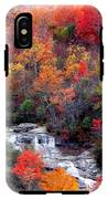 Blue Ridge Parkway Waterfall In Autumn IPhone X Tough Case