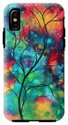 Bold Rich Colorful Landscape Painting Original Art Colored Inspiration By Madart IPhone X Tough Case