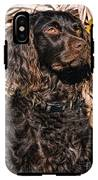 Boykin Spaniel Portrait IPhone X Tough Case