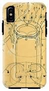 Brain Vestibular Sensor Connections By Cajal 1899 IPhone X Tough Case