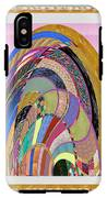 Bride In Layers Of Veils Accidental Discovery From Graphic Abstracts Made From Crystal Healing Stone IPhone X Tough Case