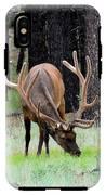 Bull Elk Grazing IPhone X Tough Case